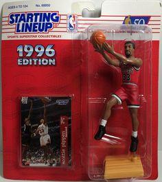 Nba Action Figures, Scottie Pippen, Childhood Days, Lineup, Vintage Toys, Superstar, Baseball Cards, Sports, Mint