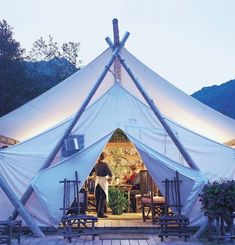 """For this item you have to imagine background music of soft drum beats and jungle sounds, the smell of campfires, fresh foliage and scented candles and Meryl Streep dressed for """"Out of Africa"""" walking towards you. Or you can just look at the pictures to see that the tents at Clayoquot Wilderness Resort are a …"""