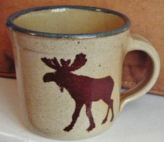 Monroe Salt Works Lg. Moose Mug. An old favorite. Great for home made lattes. So sad that this company went out of business.