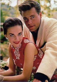 Natalie Wood and Robert Wagner    tagged as: vintage. couple. 1950s.