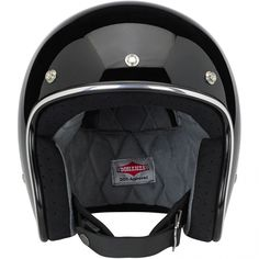 Biltwell Bonanza Helmet DOT Approved - Gloss Black  This leaner, lighter and more comfortable DOT 3/4 lid boasts hand-painted finishes like our other lids. The interior boasts a custom-shaped EPS safety shell and a hand-stitched liner with moisture wicking brushed Lycra panels and open-cell foam padding for breathability and comfort. The rugged nylon neck strap features plated steel D-rings and a snap strap end retainer with Biltwell anvil branding. Available in six sizes, XS-XXL $99.95