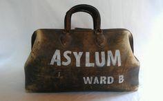 Antique 19th Century Asylum Doctors bag