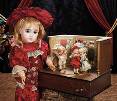 The Lifelong Collection of Berta Leon Hackney: 187 French Bisque Bebe Steiner, Figure A, with Wonderful Original Dress