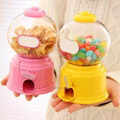 Cute Sweets Mini Candy Machine Bubble Gumball Dispenser Coin Bank Kids Toy Wt7N