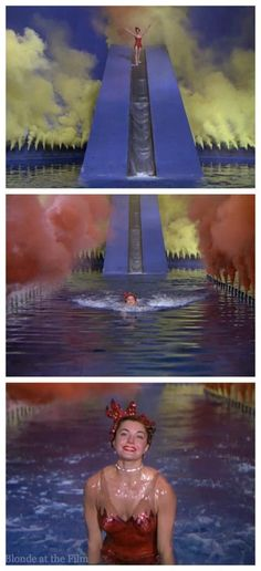 Water Ballet Montage Sequence - Esther Williams in 'Million Dollar Mermaid', 1952 - The music score was by Adolph Deutsch, the cinematography by George J. Folsey & the choreography was by Busby Berkeley.