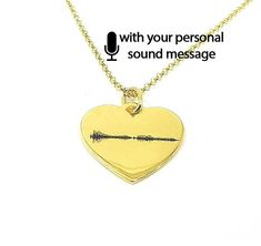 Sterling silver soundwave necklace gold plated,waveform necklace,custom sound wave pendant, sonogram ultrasound - Ship by DHL EXPRESS