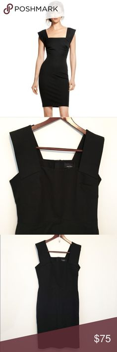 """Roland Mouret Banna Republic Black Sheath Dress Sophisticated, classy, with some edge! The perfect LBD! Brand new, gorgeous dress. Perfect for a night out or any Little Black Dress occasion! 20"""" bust and 16"""" waist. Cotton, viscose, elastane. Banana Republic Dresses Midi"""