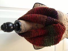 Multi color knit cowl