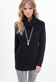 Waffle Knit Turtleneck Sweater | FOREVER21 - 2055878323