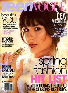 Teen Vogue magazine Lea Michele Spring fashion Denim Misty Copeland e-cigarettes Teen Vogue, Vogue Magazine Covers, Vogue Covers, Magazine Photos, Mad Magazine, Lea Michele Glee, Back To School Makeup, Sebastian Kim, Rachel Berry