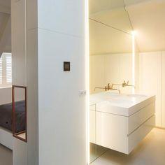 Zolderverdieping verbouwd tot master bathroom - Van Boven badkamers