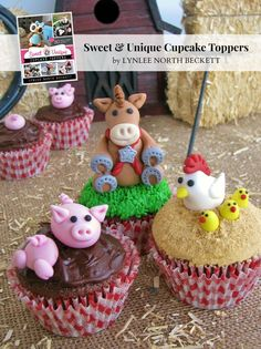 cookbook GIVEAWAY! Sweet and Unique Cupcake Toppers
