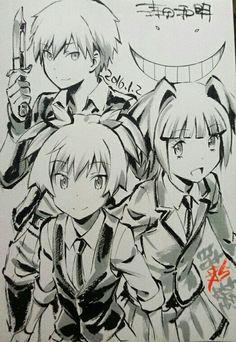 Assassination Classroom | Ansatsu Kyoushitsu | Akabane Karma, Shiota Nagisa, & Kayano Kaede