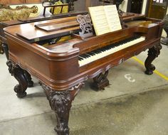 Steinway Square Piano in Brazilian Rosewood, 1878 - Wood Finisher's Source