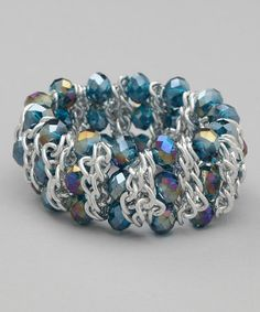 Take a look at this Blue Crystal Stretch Bracelet by Ten79 on #zulily today!