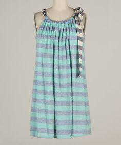 Loving this Fashionomics Teal & Gray Stripe Tank on #zulily! #zulilyfinds