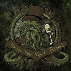 """165 Likes, 1 Comments - Cthulhu (@cthulhuofficial) on Instagram: """"Happy new year ! It may be your last so enjoy it.. #newyear #cthulhu #cthulhumythos #death…"""""""