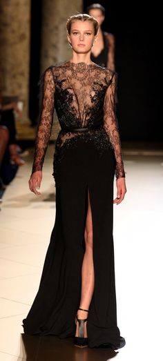 Elie Saab #black #lace #dress