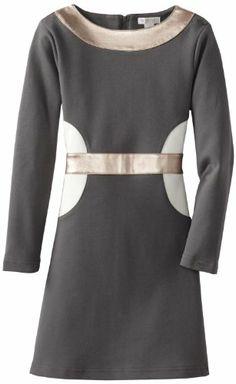 kc parker Girls Mod Knit Dress with Metallic Faux Leather Trim, Dresses For Tweens, Girls Dresses, Dresses For Work, Big Knits, Knit Dress, Teen Fashion, Knitting, Metallic, Trim Color