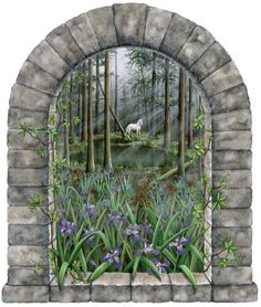 Unicorn Forest Mural