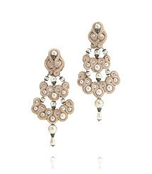Statement jewelry must: chandelier earrings for day to night. my favorite pieces of jewelry that accentuates your neck and decollete     Passementerie Earring