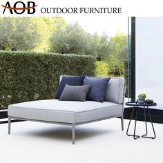 Chinese Modern Outdoor Garden Hotel Home Patio Furniture Sun Lounger Aluminium Sunbed Sofabed Daybed Material : Aluminum. Frame Material : Aluminum. Style : Modern. Usage : Hotel, Hospital, School. Usage : Hotel, Hospital, School, Hotel, Resort, Villa, Apartment, Home, Beach. Color : Grey. Customized : Customized. Condition : Hotsale. Frame : Powder Coated Aluminum. Accessory : with Stand. Warranty : 2years or 3years as Requests. MOQ : 30PCS. AOBEI Chinese Modern Outdoor Garden Hotel Home Patio Grey Cushions, Scatter Cushions, Outdoor Sofa, Outdoor Decor, Contemporary Daybeds, Contemporary Gardens, Garden Furniture, Outdoor Furniture, Modul Sofa