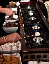 Love this s'mores bar! Find this and more ideas like it on The Overwhelmed Bride