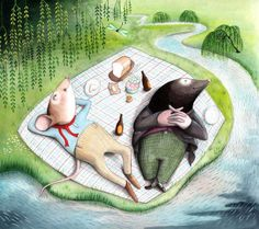 Wind in the Willows!! I would love to have this in my home. It's an illustration by Sophie Blackall.