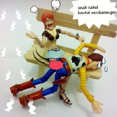 Bart .... Made woody get some hits on his butt #nami angry