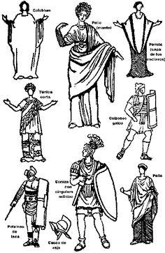 Se muestran las diferentes tipos de tunicas que habian.