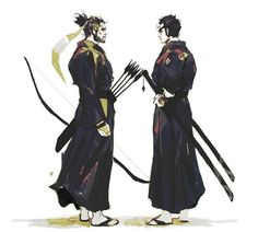 """Shimada Brothers Genji and Hanzo. """"Things could have been different..."""""""
