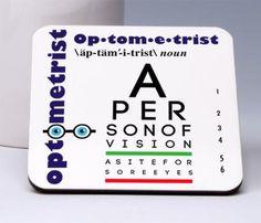 Optometrist Coasters (Set of 4)