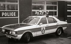 British Police Cars, Old Police Cars, Military Police, Emergency Vehicles, Police Vehicles, Ford Vehicles, Manchester Police, Ford Granada, Ford Capri