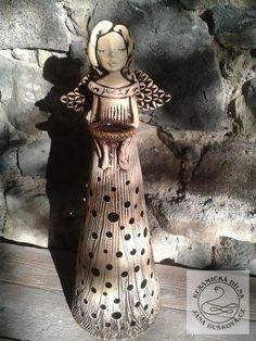 """Andělky   Andělské světlo """"ANDĚLKA""""   Andelske-svetlo.cz   Keramické výrobky Willow Tree, Lanterns, Diy And Crafts, Clay, Homemade, Sculpture, Statue, Dolls, Christmas"""