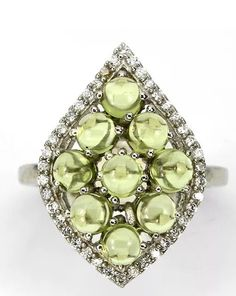 Genuine Glowing Peridot Statement Ring by HerFoundFineArt on Etsy