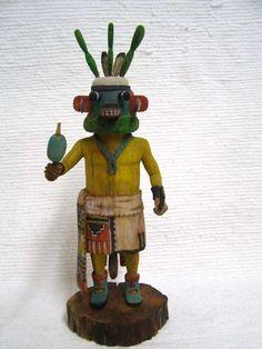 Native American Hopi Carved Prickly Pear Fruit-Cactus Katsina Doll by Alexander Youvella Sr.