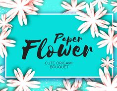 """Check out new work on my @Behance portfolio: """"Paper Flower. Cute Origami Bouquet"""" http://be.net/gallery/46907375/Paper-Flower-Cute-Origami-Bouquet"""