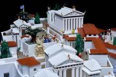 Guests can admire for the first time the imaginative model of Acropolis made with Lego and was recently donated by the Nicholson Museum in Sydney to the Acropolis Museum. The Acropolis. Lego Kai, Athens Guide, Athens Acropolis, Greek History, Lego Models, Heart For Kids, Archaeological Site, Lego Brick, Travel And Leisure