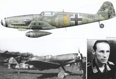 """Messerschmitt Bf 109G-10/R3, Werk # 130297 10./J.G. 51, On the 4th of May around 3pm a Messerschmitt Bf 109G marked """"Yellow 5"""" landed at the Bulltofta airfield outside Malmoe in the south of Sweden. It was flown by Oberfeldwebel Horst Walter Petzschler from Jagdgeschwader 51, also called Geschwader Mölders. His unit, the 10thstaffel, was based at a temporary airstrip in the west of East Prussia, near Danzig."""