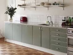 Bildresultat för renoverat 60-tals kök Mid-century Modern, Interior Decorating, Kitchen Cabinets, Vanity, Maj, Furniture, Berg, Design, Home Decor