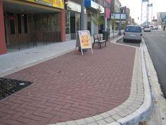 StreetPrint歩道カナダ、オンタリオ州   場所:ウェランド、/装置に使用される:SR-20 / StreetPrintテンプレートパターン:ヘリンボーン