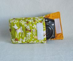 No more boring camera bags! Sew up a padded bag perfectly sized to your camera!