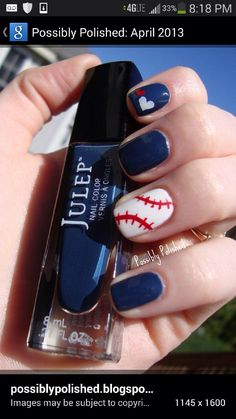 Baseball/softball nails