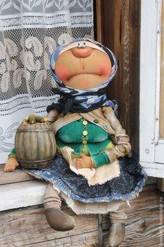 Купить Огурцы бочковые!!! - разноцветный, текстильная кукла, ароматизированная кукла, интерьерная кукла, деревенский стиль