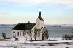Kistrand church, built in 1856, Norway