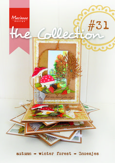 The Collection #31 Autumn Creatables, Trees, Ice Crystal & Leaves punch dies Craftables, Tiny's landscapes autmn & winter, Anja's Background stamps, Watercolor, Snoesjes stamps & decoupage, Cross-stitch & Knitting Design Folders