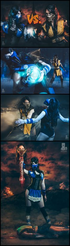 Scorpion vs Sub-Zero (Mortal Kombat) by Jenifer Ann #cosplay