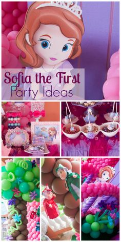 Loving all the party ideas at this Sofia the First girl birthday party! See more party ideas at CatchMyParty.com.