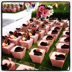 I always look forward to the Sant Ambroeus dessert presentations at Super Saturday in the Hamptons.  A feast for the eyes and mouth!