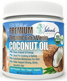 Organic Coconut Oil For Hair and Skin, Cooking & Baking Raw Cold Pressed Extra Virgin Best Tropical Oils With Amazing Aroma & Great Moisturizer Anti-Wrinkle Cream & Natural Conditioner ** Wow! : All Natural Skin Care Best Coconut Oil, Coconut Oil For Acne, Cooking With Coconut Oil, Benefits Of Coconut Oil, Organic Coconut Oil, All Natural Skin Care, Organic Skin Care, Natural Hair, Coconut Oil Hair Growth